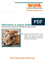 Alternatives to Animal Shelters