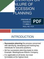 failure on succesion planning