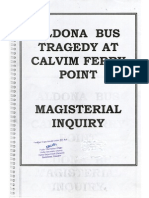 Magisterial Inquiry report (on the Calvim tragedy, Aldona, Goa, India)