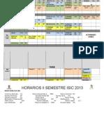 HORARIO 2 semestre 2013
