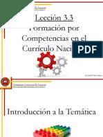 Lección 3.3 La formación por competencias en el currículo nacional
