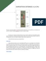 CONEXIÓN DE DISPOSITIVOS EXTERNOS A LA CPU