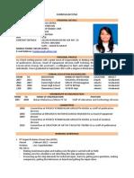 Curriculum Vitae Tasia Larosa