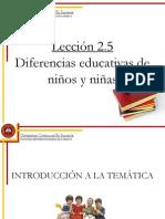 Lección 2.5 Diferencias educativas de niños y niñas