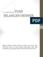 PENENTUAN BILANGAN HEHNER