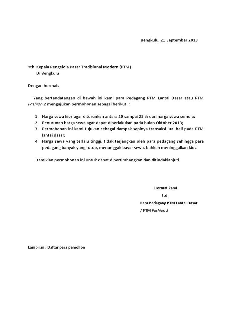 Surat Rasmi Permohonan Buka Booth - Surat GG