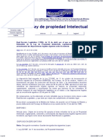 Ley de La Propiedad Intelectual