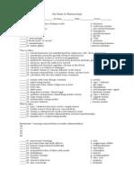 Unit Exam in Pharmacology