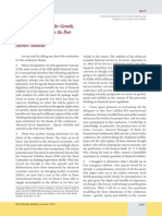 Financial Regulation for Growth Equity and Stability in the Post Crisis World