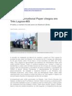 A International Paper em Três Lagoas