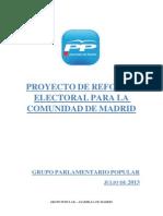 Proyecto de reforma electoral para la Comunidad de Madrid