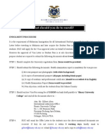 01 Enrollment Procedure - International 2011-2012 (EMAIL)