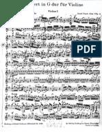 HAYND Concierto Sol M Para Violin - Violin I Completo