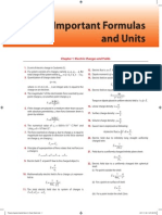Important Formulas and Units