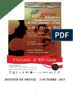 Dossier de Presse Vision Afrique 2013