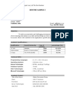 Fresher Resume Sample2