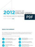 Sundaysky-2012 State of Online Video Report-12!03!2012