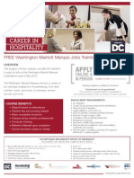 Washington Marriott Marquis Jobs Training Program