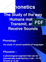 Phonetic Sounds (Vowel Sounds and Consonant Sounds)