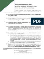 Edital de Prorrogacao - SBC PS 01-2013
