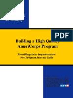 AmeriCorps New Program Startup Guide