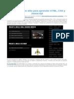 Dash, Un Nuevo Sitio Para Aprender HTML, CSS
