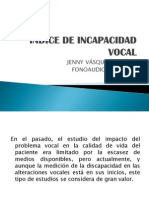 Indice de Incapacidad Vocal