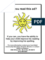 PTA Flyer for Tutoring