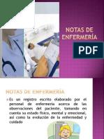 Notas de enfermería