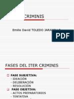 ITER CRIMINIS - TENTATIVA