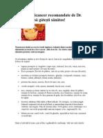 5 reţete anticancer recomandate de Dr.doc