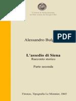 A. Bulgarini – L'assedio di Siena – Parte seconda