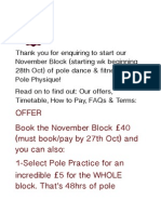 Pole Physique November Block Offers