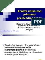 Analiza Rizika Kod Primarne Proizvodnje, Dragana