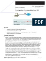 Configuration de SSH Sur Un Routeur Cisco