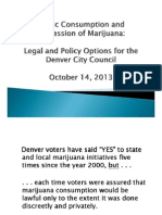 Denver City Council Marijuana Legal and Policy Options
