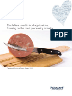 Emulsifiers Used in Food Applications, Focusing on the Meat Processing Industry