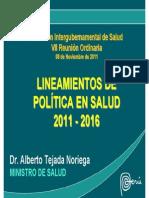 2.- Lineamientos de Política de Salud 2011-2016