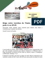 Briga entre torcidas do Timão e São Paulo pode ir ao STJD