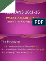 Apostle Paul's final greetings