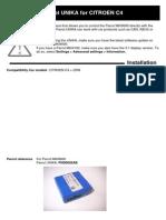 Parrot UNIKA CITROEN C4 Compatibility PDF