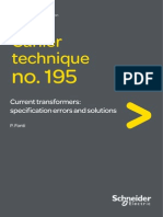 Cahier Technique n195 Current Transformer Specification Error and Solutions