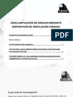Desclasificacion de Garajes Mediante Ventilacion Forzada
