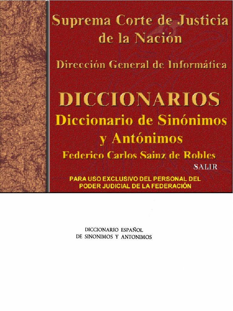 Diccionario de Sinonimos - photo#39