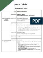 programao completa - workshop ciencia para a cidade