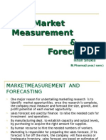 Marketing Measurement and Forecasting
