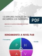 13 Errores Fatales En Que Incurren Los Gerentes Pdf