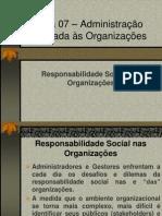 Marli - Aula 07 – Administração Aplicada às Organizações.ppt