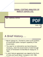 Marginal Accounting of Maruti Udyog Ltd
