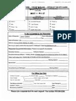 Original OIC OakBears Req to Clerk 101113